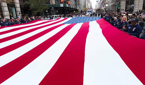 Veteran's Day Parade stock photo