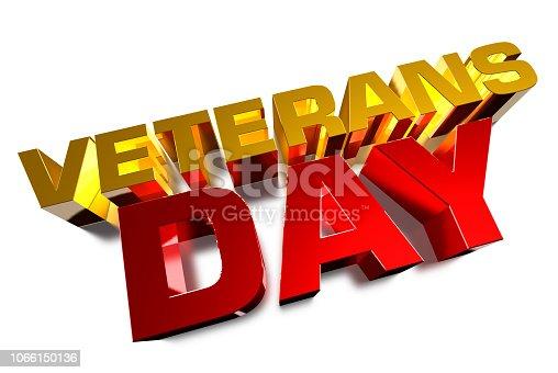 istock Veterans' Day. 1066150136