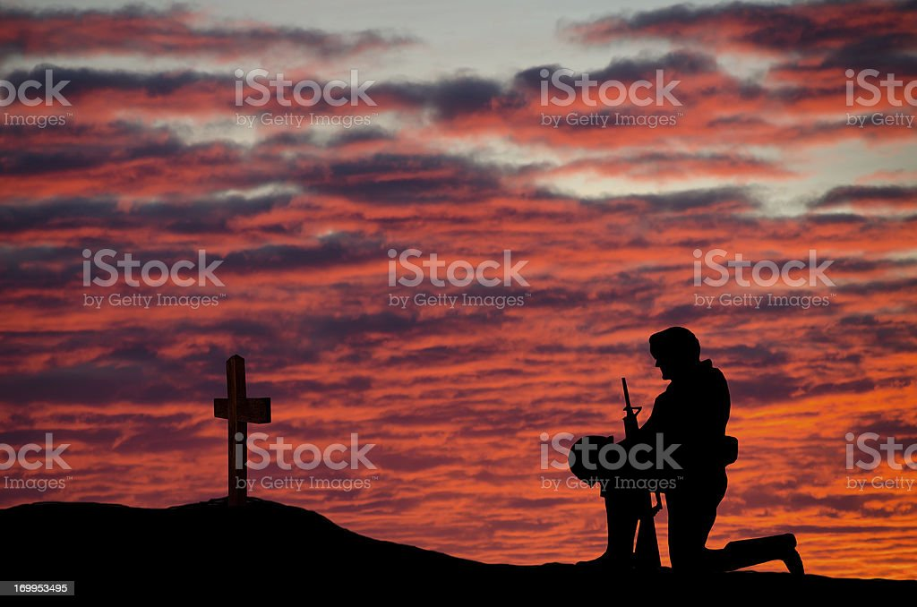Veterans' Day Soldier stock photo