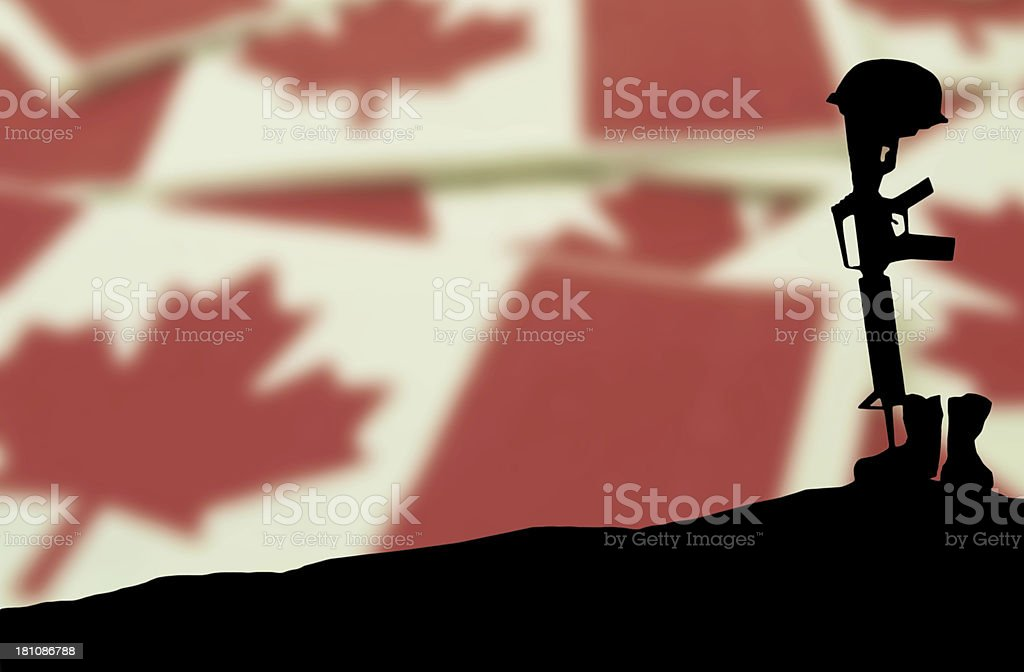 Veterans' Day Soldier's Grave stock photo