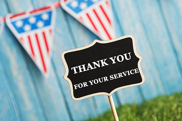 Veterans Day Thank You stock photo