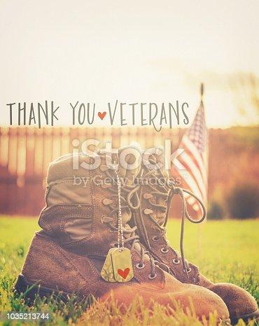istock Veteran's Day. Thank you Veterans 1035213744