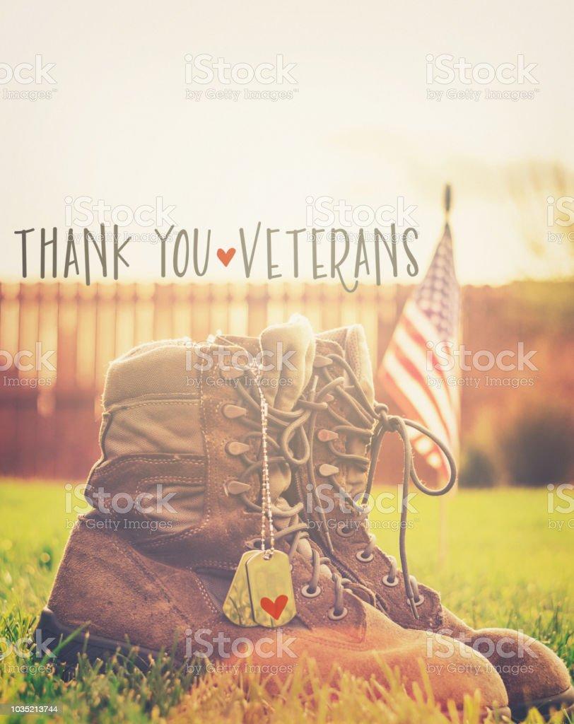 Veteran's Day. Thank you Veterans stock photo