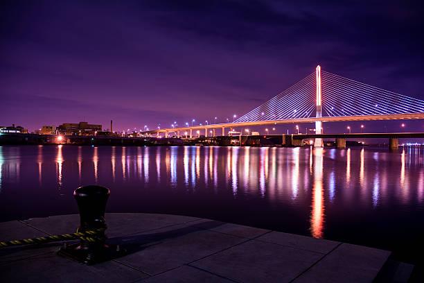 Veterans Glass City Skyway Bridge stock photo
