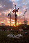 istock Veterans Memorial at Winter Sunrise 1292593421