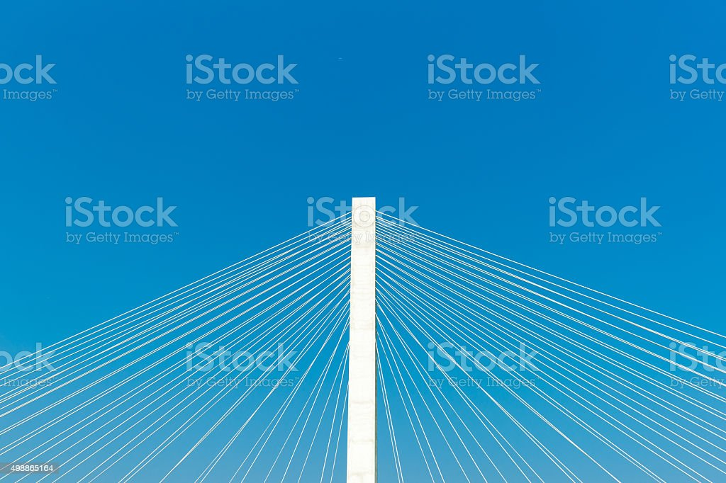 Veterans Memorial stay bridge across the Mississippi River in St stock photo