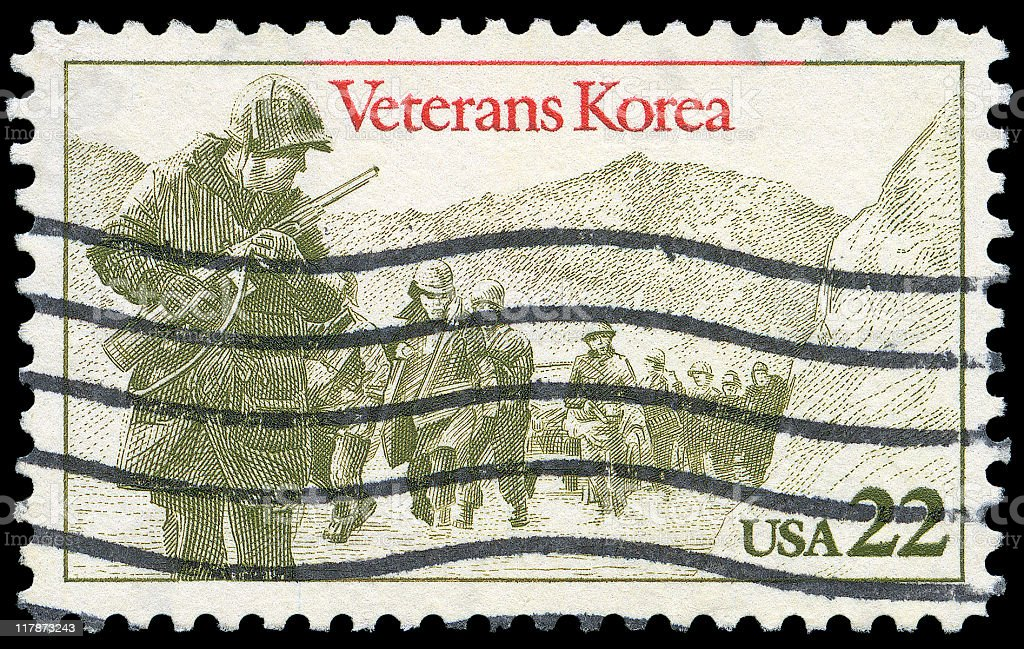 Veterans of the Korean War stamp royalty-free stock photo