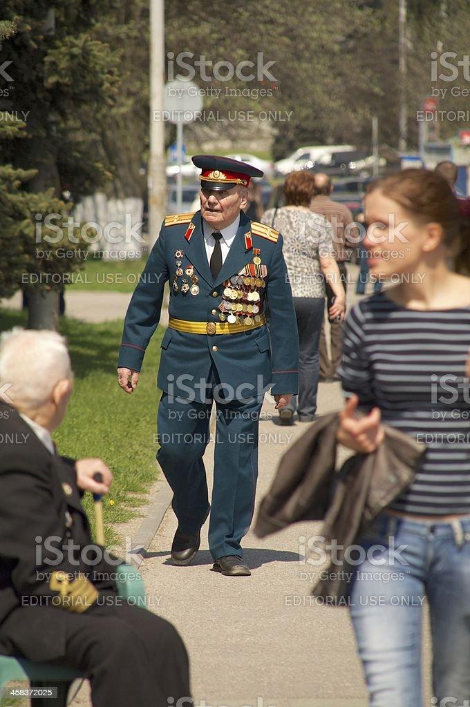 veterans of the World War II royalty-free stock photo