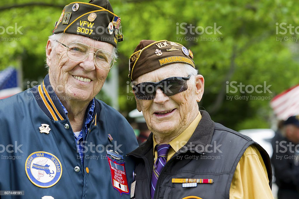 Veterans of World War II stock photo