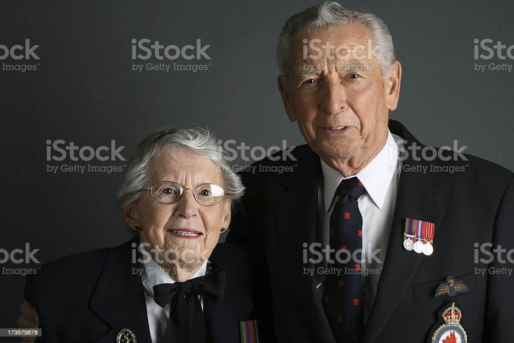 WWII Veterans stock photo