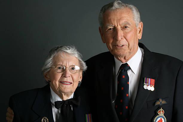 WWII Veterans stock photo