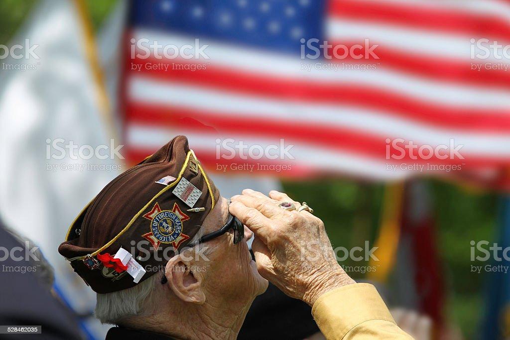 Veterans hacer un saludo - foto de stock