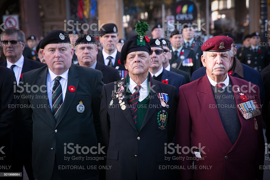 Veterans Standing Proud stock photo