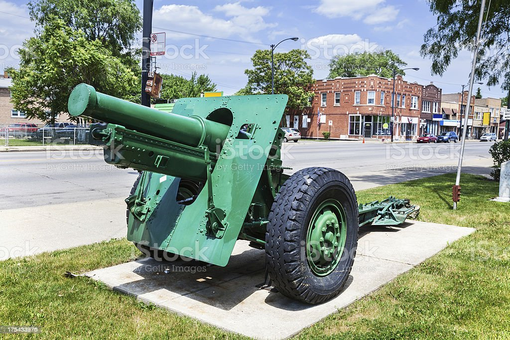 Veterans War Memorial in Archer Heights, Chicago royalty-free stock photo