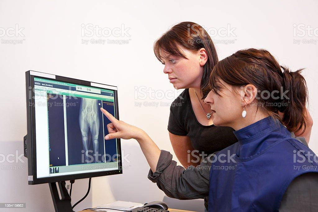 veterinarian explaining x-ray picture royalty-free stock photo