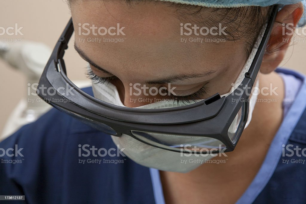 Veterinarian in Surgery Close Up royalty-free stock photo