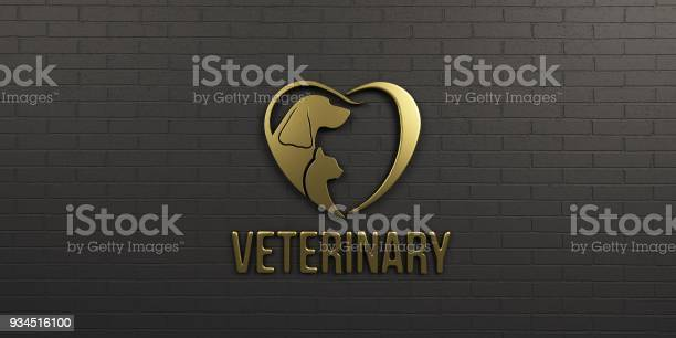 Veterinary dog and cat gold logo on black wall design 3d render picture id934516100?b=1&k=6&m=934516100&s=612x612&h=vjbtlenwcajutmj lcomhjhw9qiot2wzzisrc5ziglg=