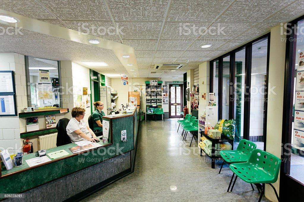 Veterinary Hospital reception area stock photo