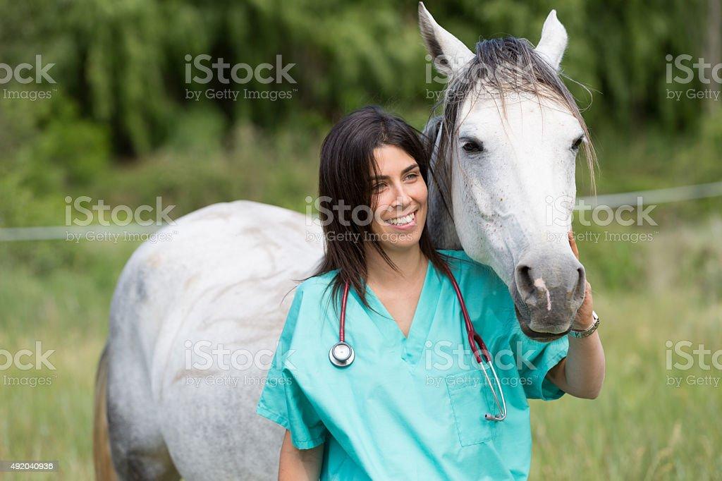 Vétérinaire dans une ferme - Photo