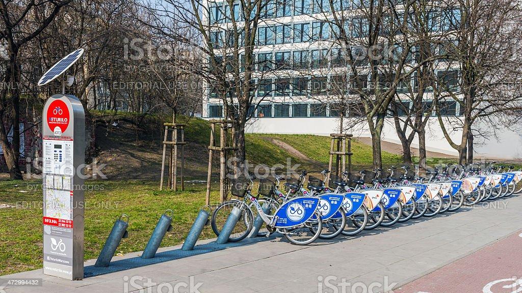 Veturilo bike station stock photo