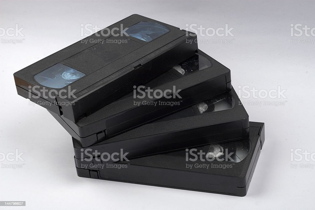 VHS-tapes royalty-free stock photo
