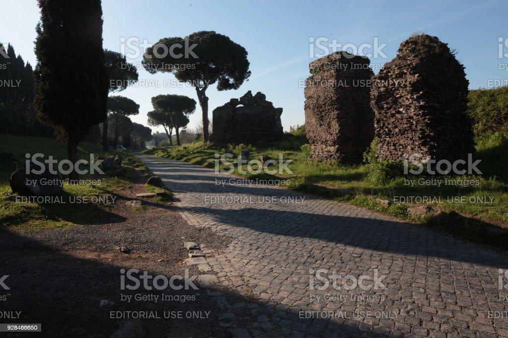 Via Appia Antica - foto stock