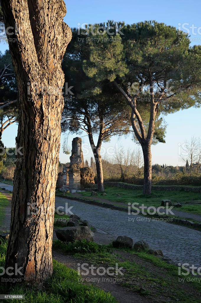 Via Appia - Appian Way stock photo