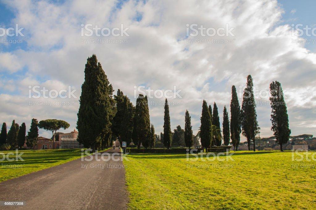 Via Appia in Rome stock photo