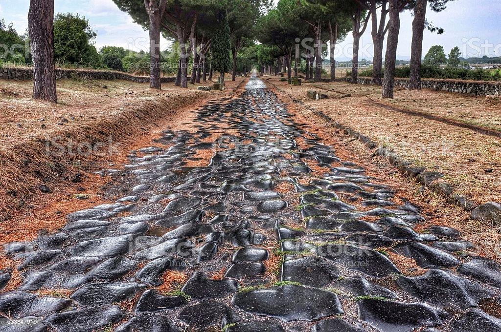 Via Appia stock photo