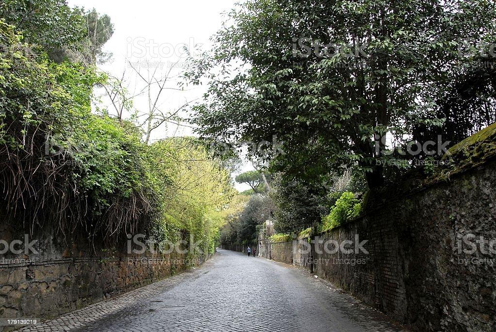 Via Appia,Italy stock photo