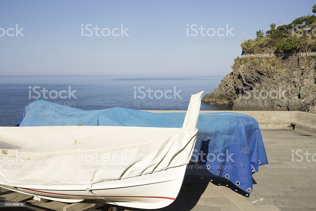 Via dell'Amore in the Cinque Terre, Italy royalty-free stock photo