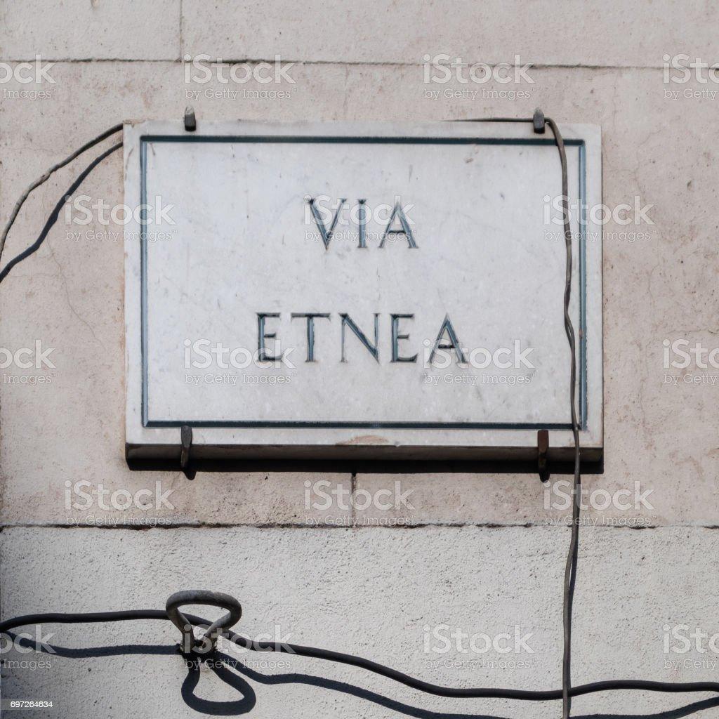 Via Etnea stock photo