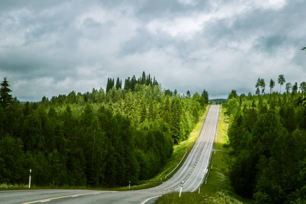 Via Karelia road in Finland stock photo