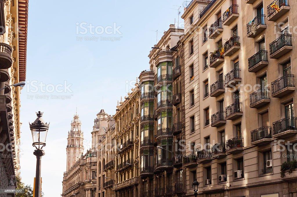 Via Laietana, Barcelona, Catalonia, Spain stock photo