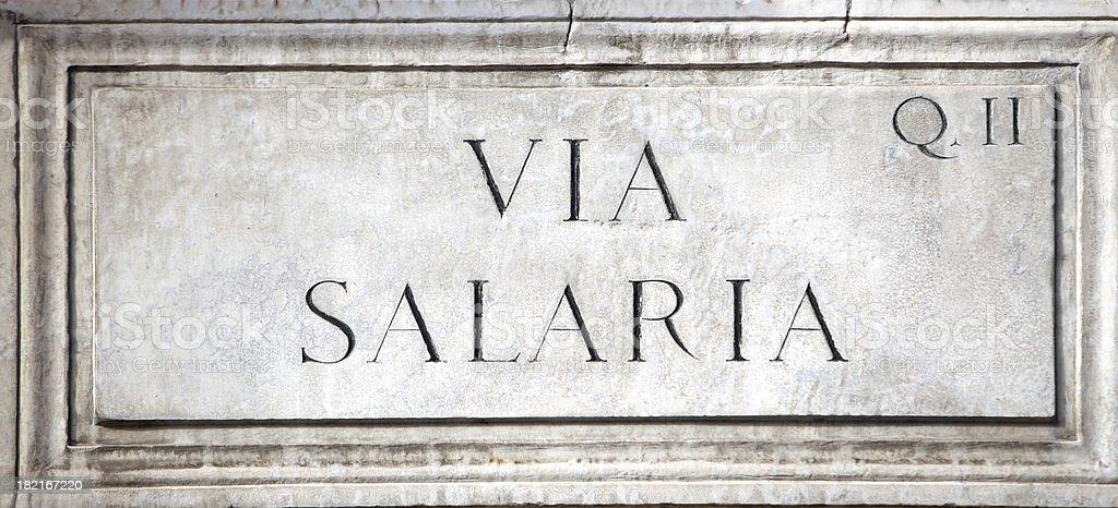 Via Salaria in Rome royalty-free stock photo