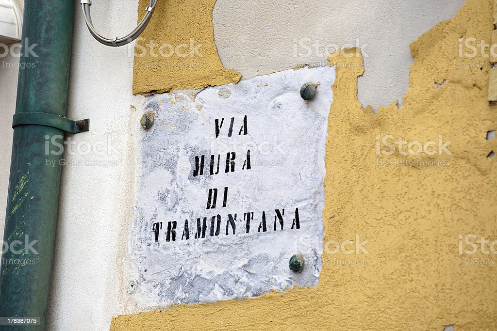 via mura di tramontana stock photo
