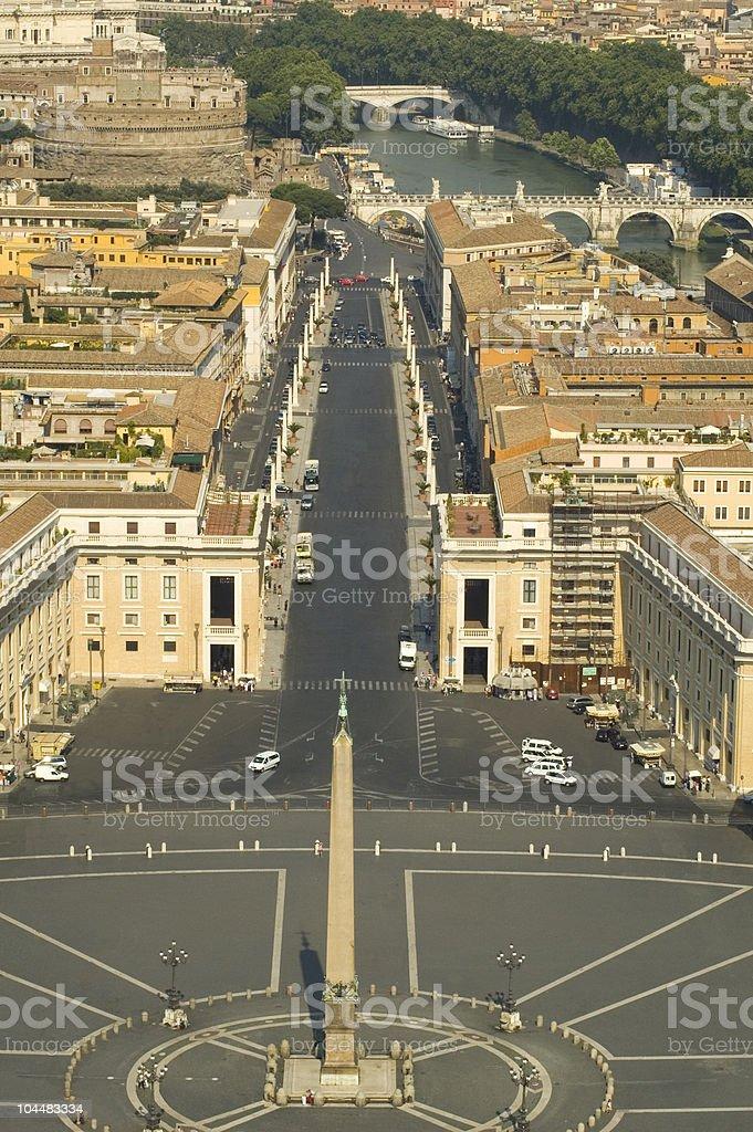 Via Vaticano royalty-free stock photo