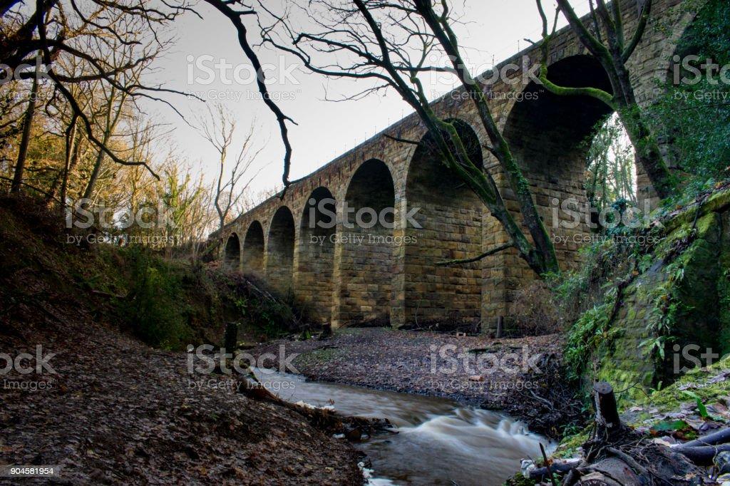 Viaduct at guisborough stock photo