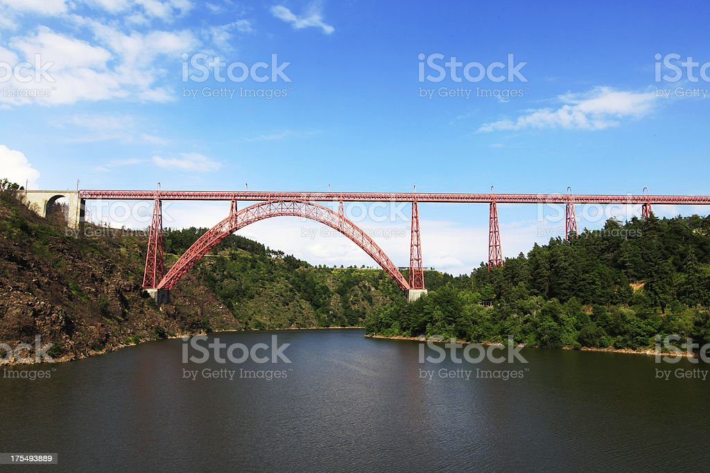 Viaduct Garabit stock photo