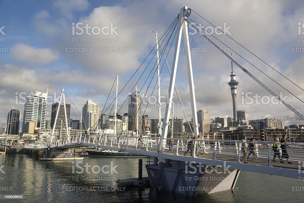 Viaduct Harbour stock photo