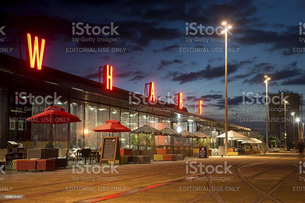 Viaduct Harbour Restaurants royalty-free stock photo