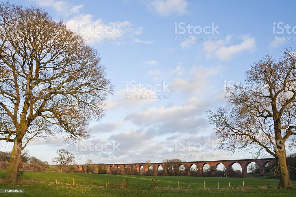 Viaduct in the Cheshire Countryside royalty-free stock photo