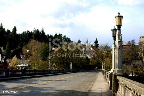 Bridge/viaduct on a rainy spring day (Portland, Oregon)