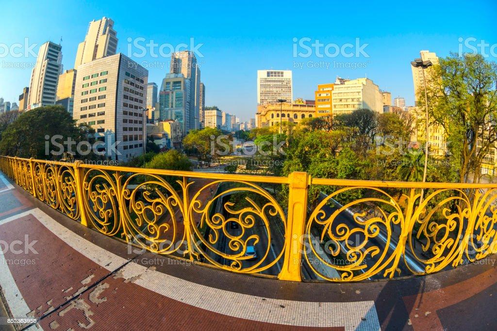 Viaduto do Chá stock photo