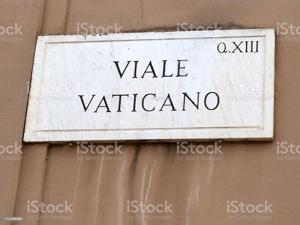 Viale Vaticano sign, Rome, Italy royalty-free stock photo