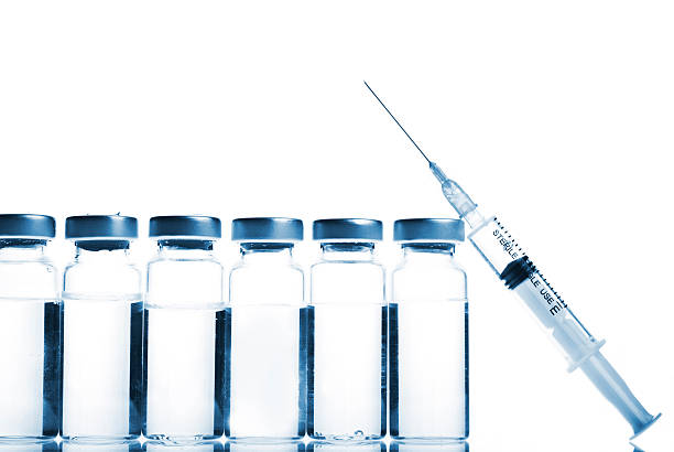 Vials and Syringe stock photo