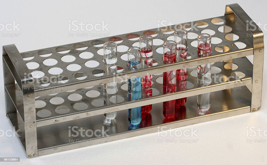 Vials in stand royalty-free stock photo
