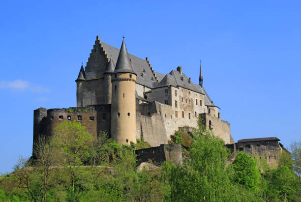 Vianden Castle, Luxembourg Europe stock photo