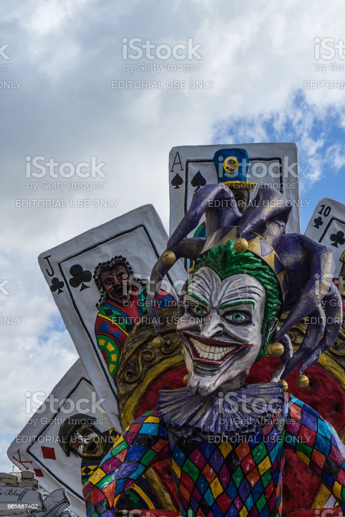 Viareggio carnival is famous for political satire and allegorical wagons, Italy - Royalty-free Carnival - Celebration Event Stock Photo