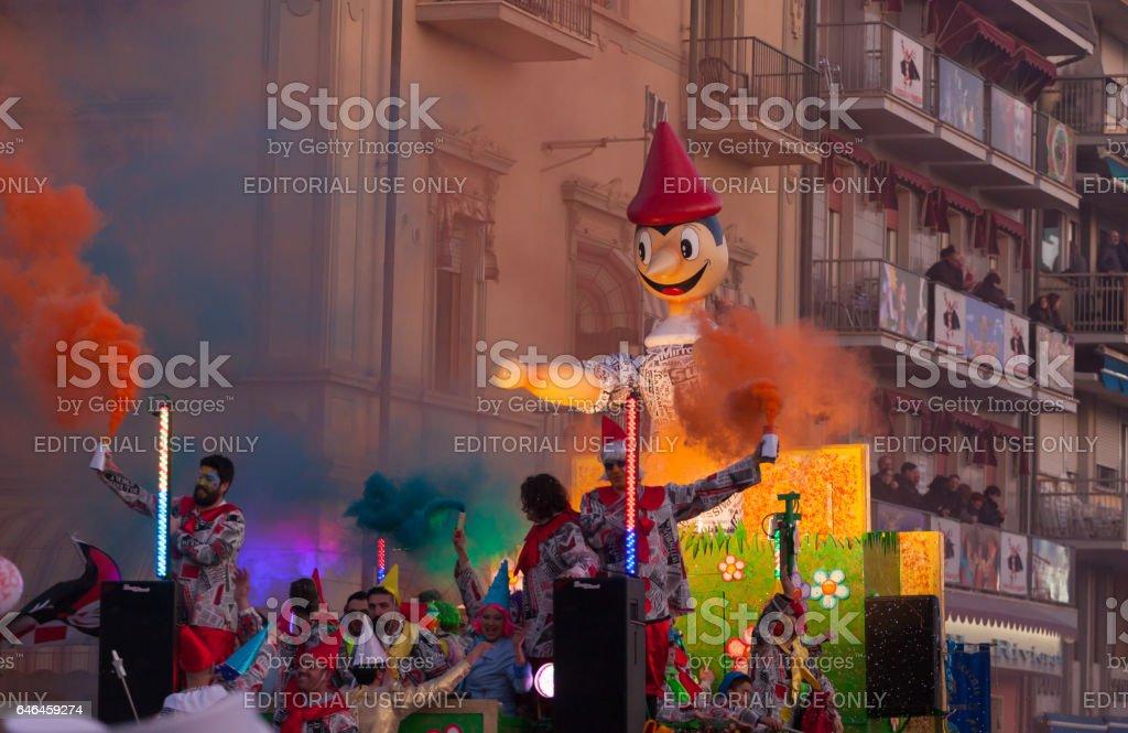Viareggio Carnival, Tuscany, Italy. stock photo